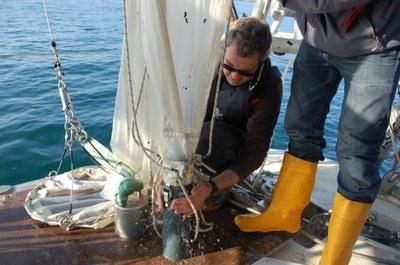 le filet à plancton de tara