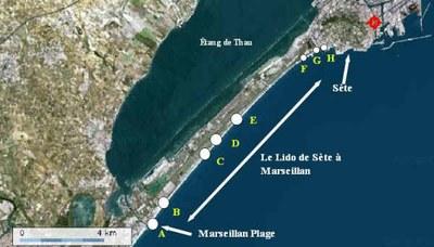 Quelle est la surface totale des 12 km de plage ?