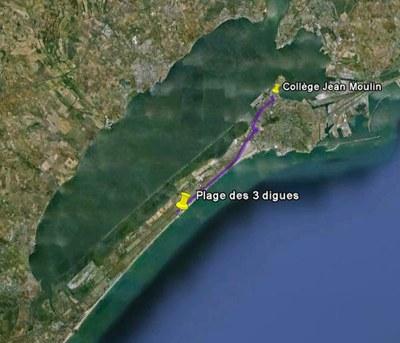 Localisation sur une carte