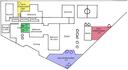Plan du collège - délimitation des zones d'observation