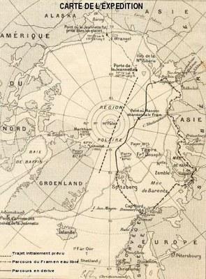Carte expédition Nansen