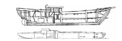 coupe longitudinale tara et fram