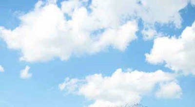 ciel bleu gros nuages a
