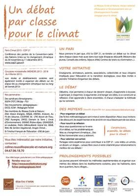Un débat par classe pour le climat VF