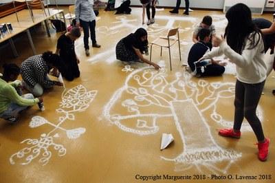 Atelier des collégiens   un mandala collectif