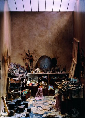 L'atelier de Francis Bacon. Crédit photo   Charles Matton
