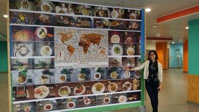 Le mur de Selfood et son planisphère