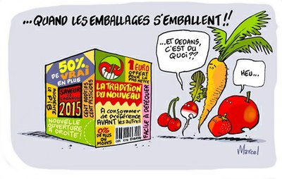 Marcel de la Gare - les dessinacteurs - emballages